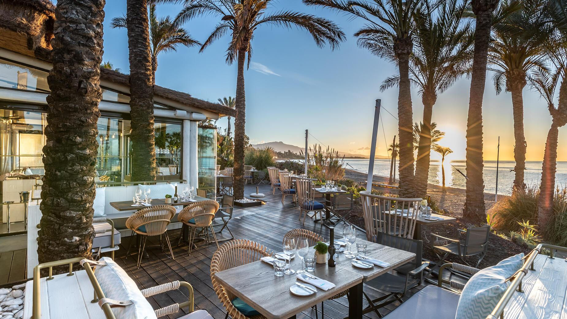 Spíler Beach Club, restaurant on the beach in Marbella, Estepona, Costa del Sol